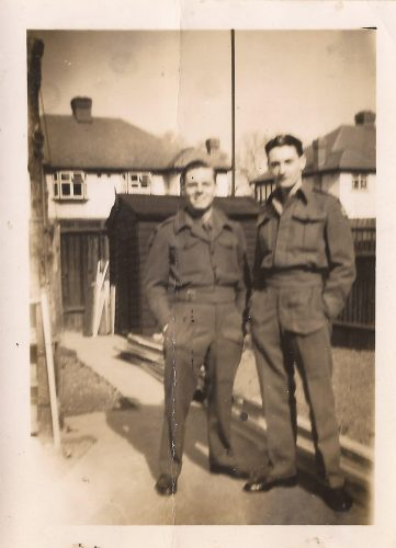 """N060 - """"John"""" and unknown, probably G Coy - Anon. collection"""