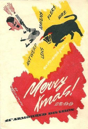 11th Armd. Division Christmas Card 1944