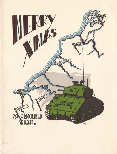 29 Armd. Brigade Christmas Card 1944 - 1/2 - Jeltes collection