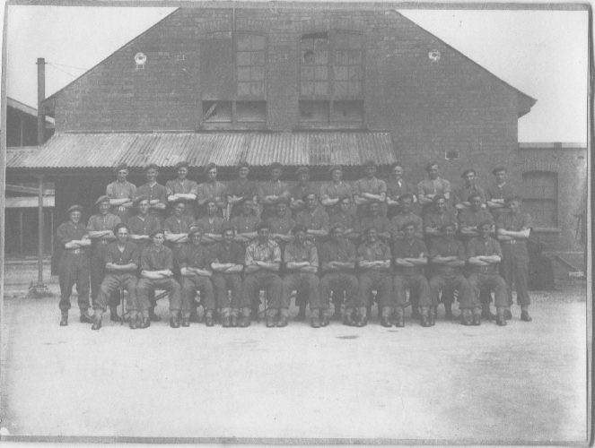 N006 - 8th Bn. KRRC at Pembroke Docks, in August 1944, prior to embarkation and being sent to France as reinforcements to 8th Rifle Brigade - Petrie collection