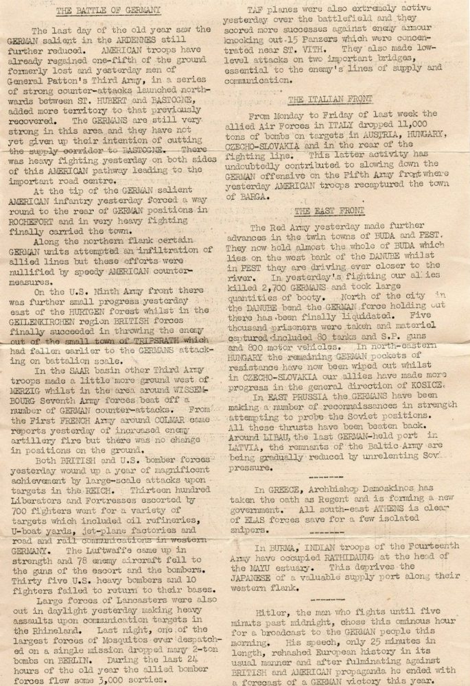 The Bulletin - No. 168, Jan. 1945 - 2/2 - editor's collection