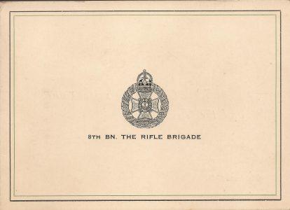 8th Rifle Brigade Christmas Card 1945 - 1/2 - Sgt. Fruin collection