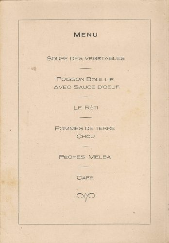 Sergeants Mess Normandy Dinner menu - 13 June 1945 - Sgt. Fruin collection
