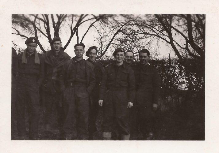 N007 - Sgt. Fruin, 2nd from right - Probably G Coy - Sgt. Fruin collection