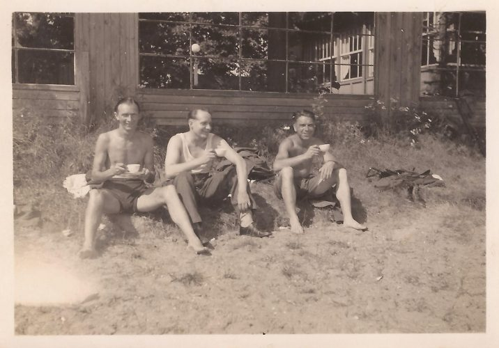 N021 - Left to right: ??, Sgt. Fruin, Sgt. White, G Company - Sgt. Fruin collection