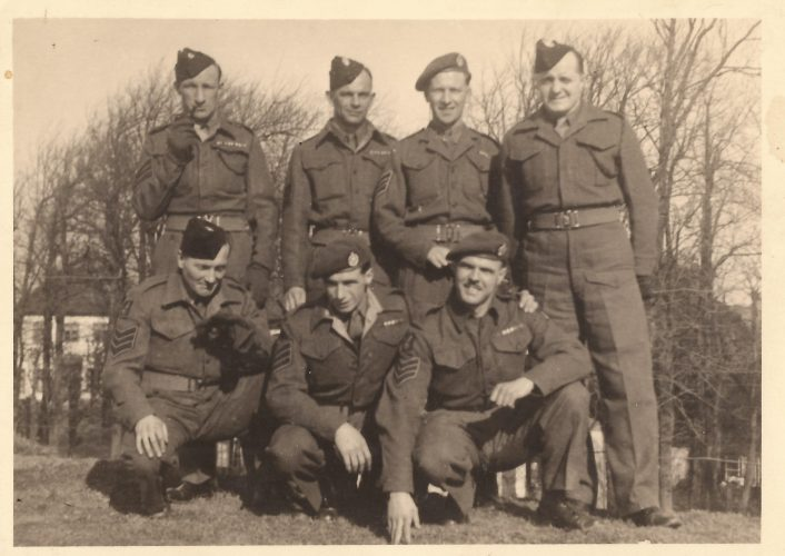 N028 - Sgt. Fruin, standing right (Post war) - Sgt. Fruin collection