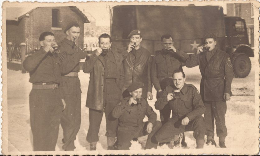 N031 - Sgt. Fruin, front right - probably G Company (and at least one non-Rifle Brigade) - Sgt. Fruin collection