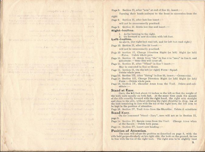The Rifle Brigade, Drill - Amendments (No. 1) - Jeltes collection