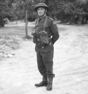 Rfn Everard, Normandy, 11 July 1944 - IWM B6959