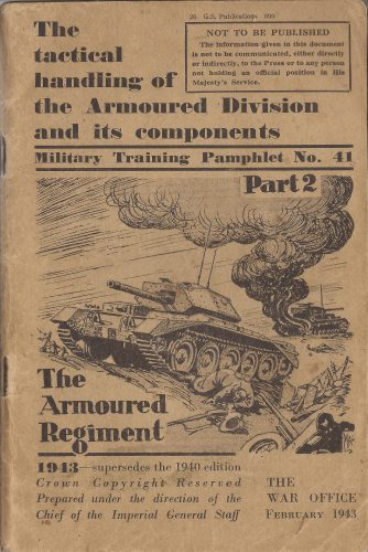 Training Pamphlet - The Armoured Regiment - editor's collection