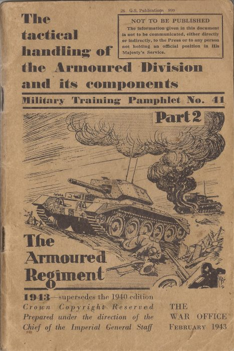 Training Pamphlet - The Armoured Regiment - Jeltes collection