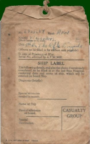 30 June 1944, 'Ship label' - Rfn. Williams collection