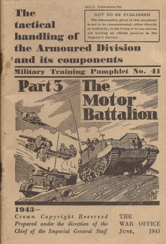 Training pamphlet - The Motor Battalion - editor's collection