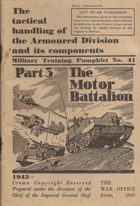 Training pamphlet - The Motor Battalion - Jeltes collection